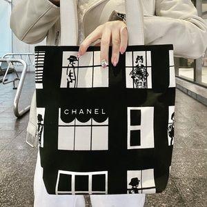 CHANEL vintage cotton handbag